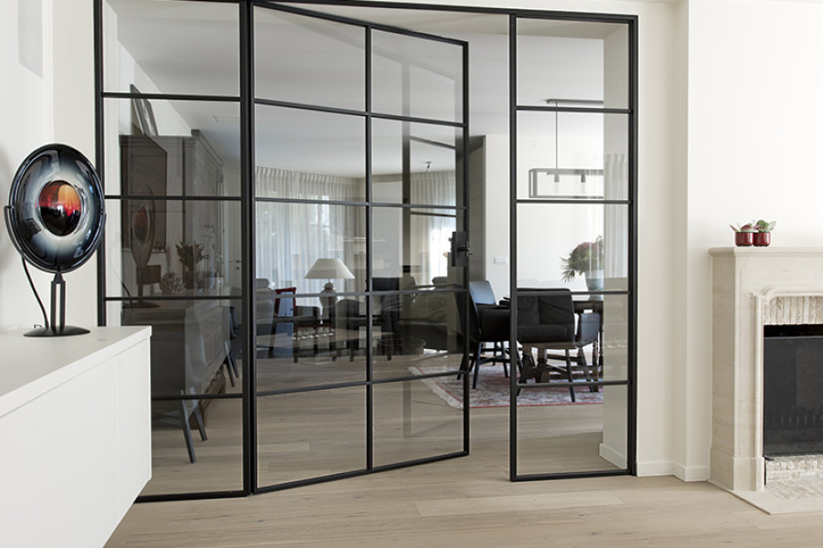 d 39 hondt interieurdouble porte en fer forg avec verre d. Black Bedroom Furniture Sets. Home Design Ideas